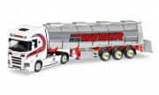 Herpa 308427 Scania CR HD Chromtank-Sattelzug