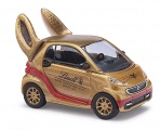 Busch 46211 Smart Fortwo 2012 »Lindt«, Goldhase 1:87