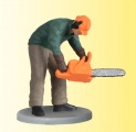 VIESSMANN 1548 Lumberjack with chain saw, moving H0