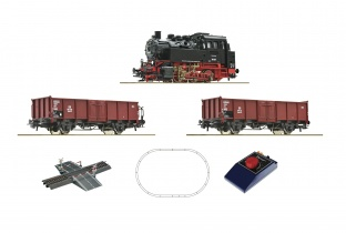 Roco 51160 - Analog Start Set: Dampflokomotive BR 80 mit Güterzug, DB H0